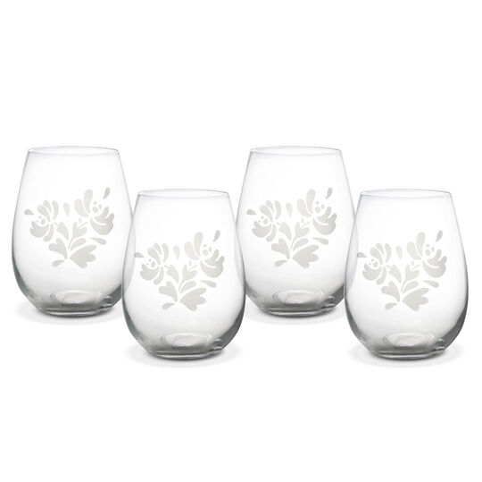 Set of 4 All Purpose Stemless Wine Glasses