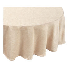 Natural 70 Inch Round Tablecloth