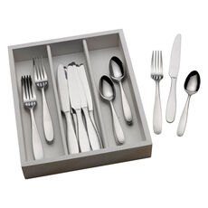 Satin Delia 36 Piece Flatware Set with Caddy