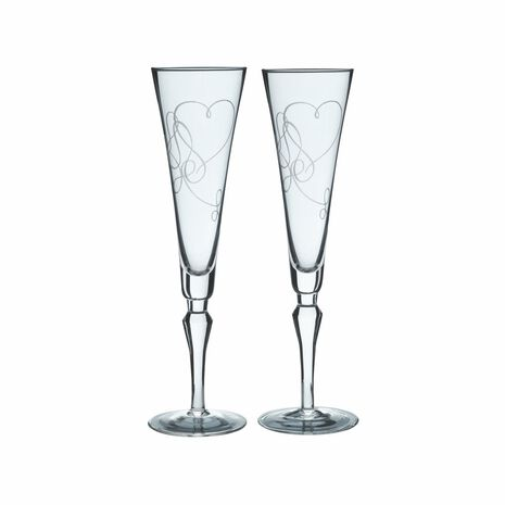 Champagne Flute Glasses, Set of 2