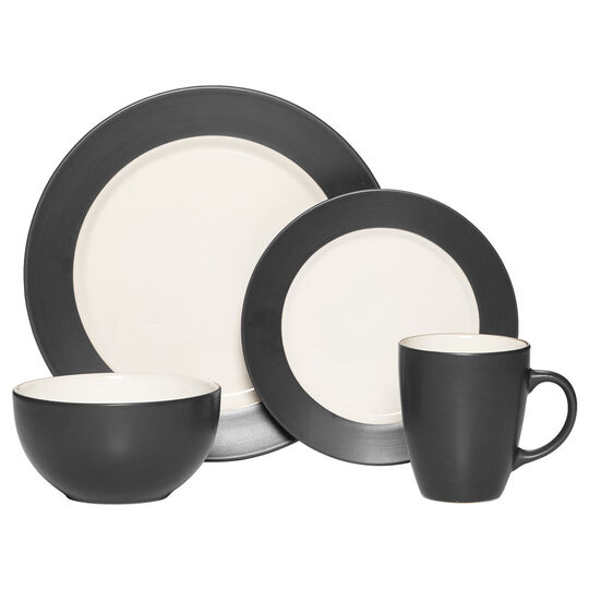 Charcoal 16 Piece Dinnerware Set