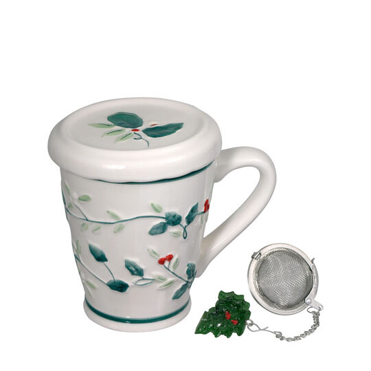 Covered Mug with Tea Infuser