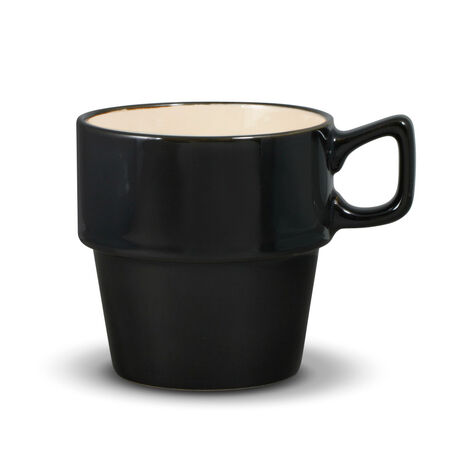 Black Stackable Mug