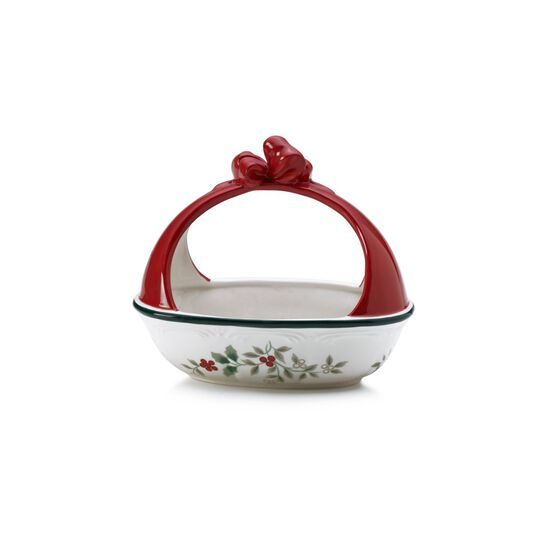 Candy Bowl with Ribbon Handle