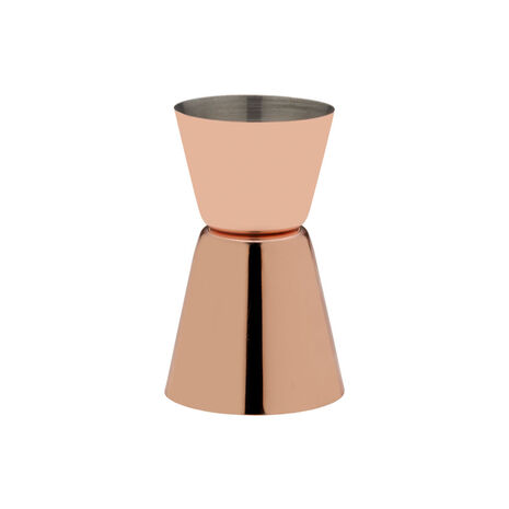 Modernist Copper Plated Double Jigger
