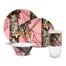 Pink Melamine Dinnerware Set