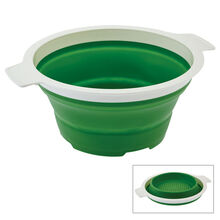 3-1/2 Quart Green Professional Collapsible Colander