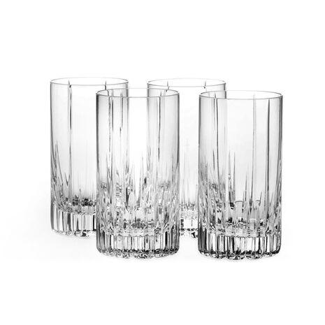 Set of 4 Crystal Highball Glasses