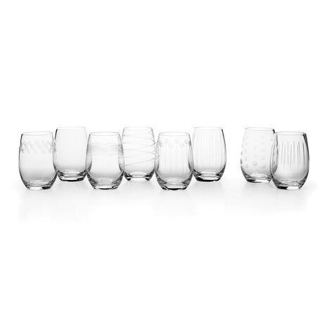 Stemless Wine Glasses, Set of 8