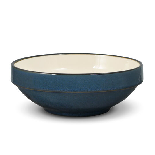 Blue Stackable Soup Cereal Bowl