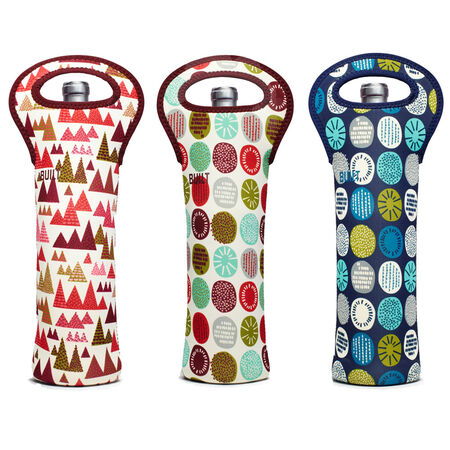 Set of 3 Holiday Wine Totes