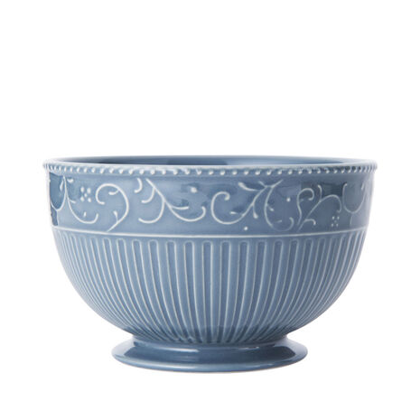 Scroll Blue Cereal Bowl