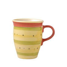 Coffee Mug With Red Handle