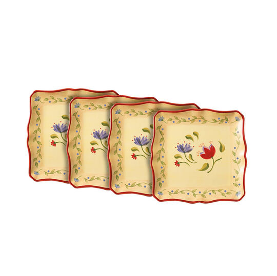 Set of 4 Square Oversized Dinner Plates