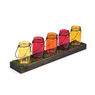 5 Light Warm Mason Jar Garden