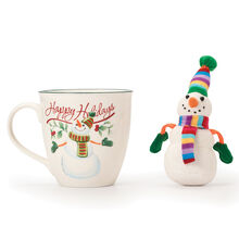 Holiday Mug with Stuffed Snowman