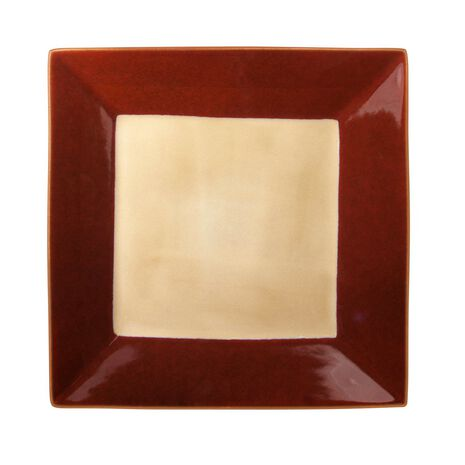 Red Square Dinner Plate