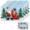 Set of 4 Jolly Santa Reversible Placemats