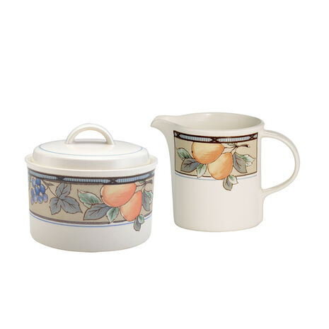 Covered Sugar and Creamer Set
