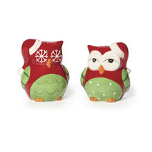 Holiday Owls Salt And Pepper Set