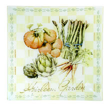 Square Glass Vegetable Platter