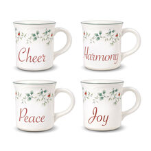 Sentiment Mugs, Set of 4