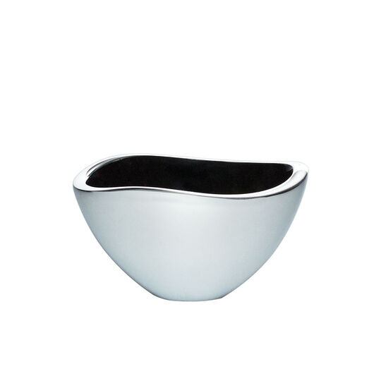 Alloy 6 Inch Bowl with Black Enamel Accent