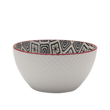 Black Geometric Soup Bowl