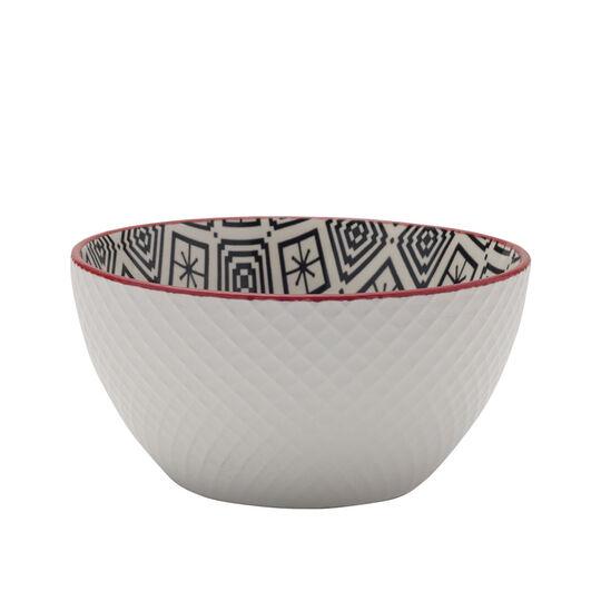 Black Geometric Soup Cereal Bowl