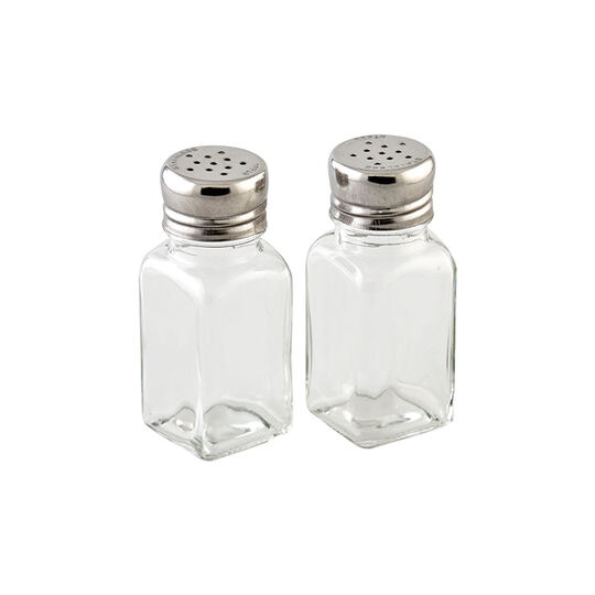 Classic Glass Salt and Pepper Shakers
