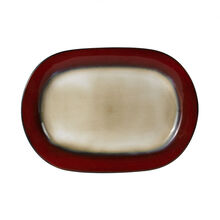 Red Oval Platter