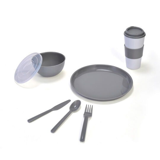 Gray Travel 8 Piece Set