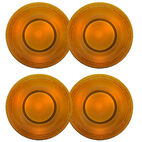 Set of 4 Amber Glass Salad Plates