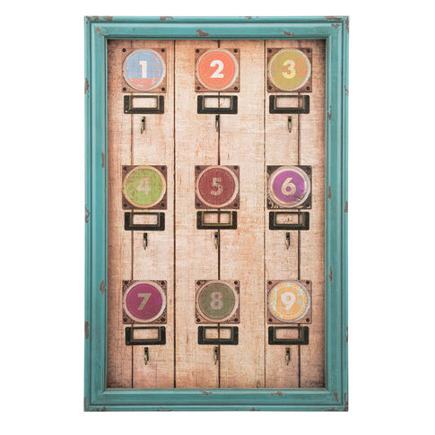 Numbered Hook Wall Decor