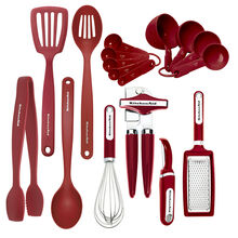 17 Piece Red Kitchen Tool and Gadget Set