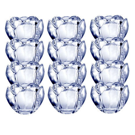 Set of 12 Glass Votives