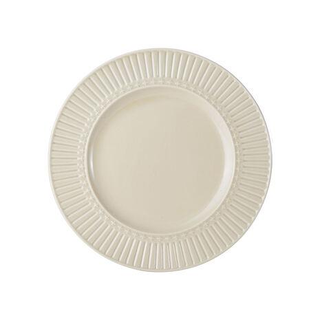 Fluted Beige Salad Plate