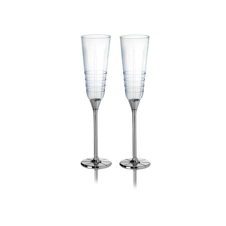 Silver Plated Champagne Flutes, Set of 2