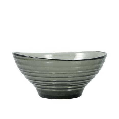 Smoke Glass Cereal Bowl