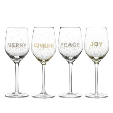 Confetti Set of 4 Goblets
