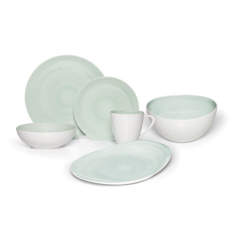 Teal Service for 8 with Serveware