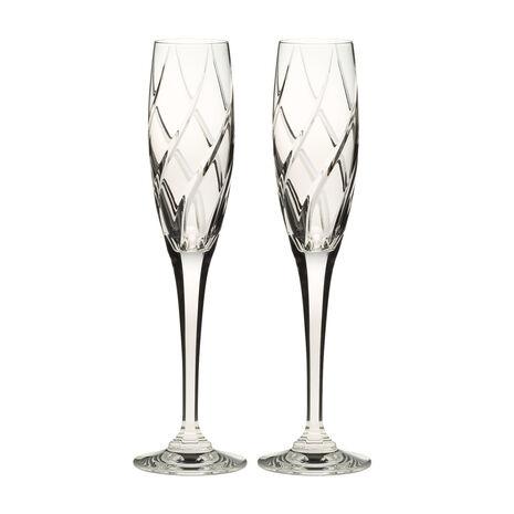 Crystal Champagne Flutes, Set of 2