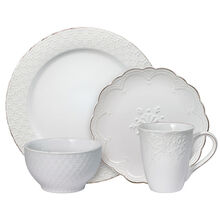 White 16 Piece Dinnerware Set