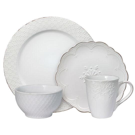 White 48 Piece Dinnerware Set