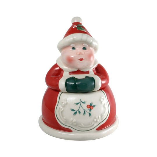 Jolly Mrs Santa Sugar Bowl with Lid