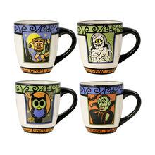 Set of 4 Halloween Mugs