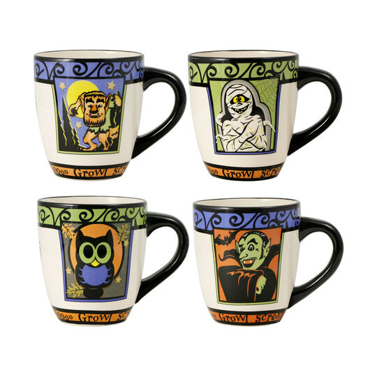 Set of 4 Halloween Mugs