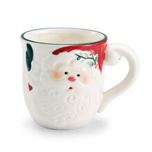 Jolly Santa Sculpted Mug