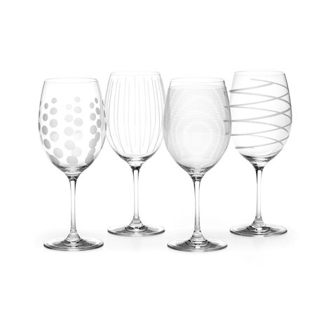 Red Wine Glasses, Set of 4