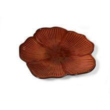 Red Floral Figural Platter